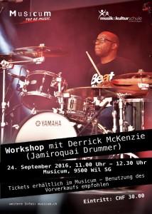 Flyer Workshop Derrick McKenzie